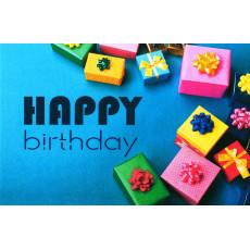 "Открытка двойная с крафт конвертом""Happy Birthday!"" SR-C6-03"