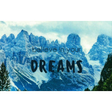"Открытка двойная с крафт конвертом""Believe in your DREAMS!"" SR-C6-08"