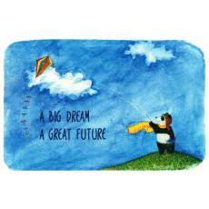 """Открытка двойная с крафт конвертом""""A BIG DREAM, A GREAT FUTURE!"""" SR-C6-16"""