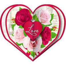 Валентинки «LOVE!» НАБОР 10 шт 14-Sp-23.058y