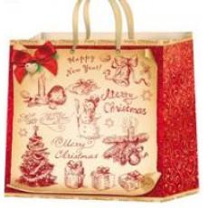 Подарочный пакет новогодний (квадрат) ED-P2-010