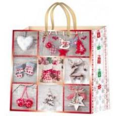 Подарочный пакет новогодний (квадрат) ED-P2-011