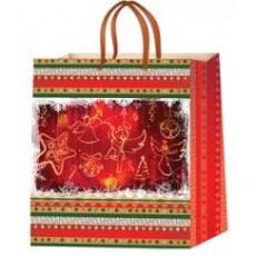 Подарочный пакет новогодний (квадрат) ED-P2-015