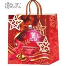 Подарочный пакет новогодний (квадрат) ED-P2-016