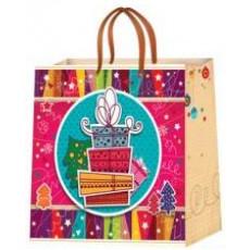 Подарочный пакет новогодний (квадрат) ED-P2-030
