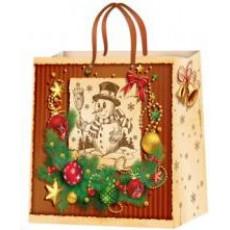 Подарочный пакет новогодний (квадрат) ED-P2-031