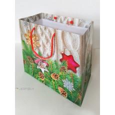 Подарочный пакет новогодний (квадрат) ED-P2-112
