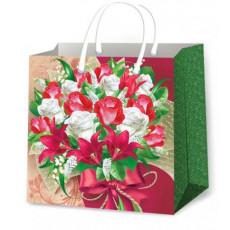 Подарочный пакет женский (квадрат) ED-P2-148