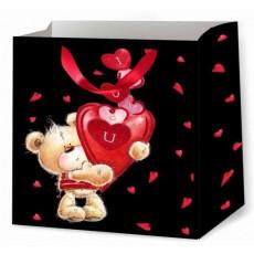 Подарочный пакет к валентину (квадрат) ED-P2-205