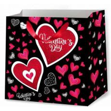 Подарочный пакет к валентину (квадрат) ED-P2-207