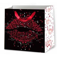 Подарочный пакет к валентину (квадрат) ED-P2-208