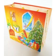 Подарочный пакет новогодний (квадрат малый) ED-P3-043