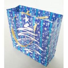 Подарочный пакет новогодний (квадрат малый) ED-P3-047