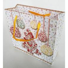 Подарочный пакет новогодний (квадрат малый) ED-P3-048