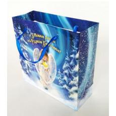 Подарочный пакет новогодний (квадрат малый) ED-P3-051