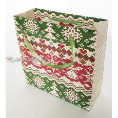 Подарочный пакет новогодний (квадрат малый) ED-P3-052