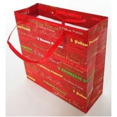 Подарочный пакет новогодний (квадрат малый) ED-P3-053