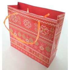 Подарочный пакет новогодний (квадрат малый) ED-P3-054
