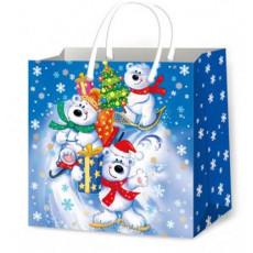 Подарочный пакет новогодний (квадрат малый) ED-P3-115