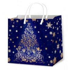 Подарочный пакет новогодний (квадрат малый) ED-P3-118