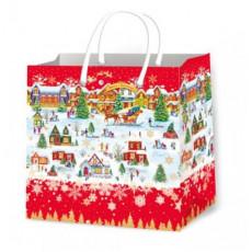 Подарочный пакет новогодний (квадрат малый) ED-P3-119