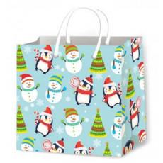 Подарочный пакет новогодний (квадрат малый) ED-P3-120