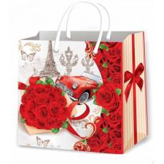 Подарочный пакет женский (квадрат малый) ED-P3-139