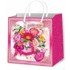Подарочный пакет женский (квадрат малый) ED-P3-142