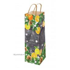 Подарочный пакет новогодний (бутылка) ED-P6-012