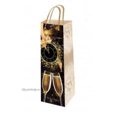 Подарочный пакет новогодний (бутылка) ED-P6-013