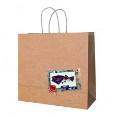 Подарочный крафт пакет  RD-RK-B4-25