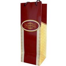 Подарочный пакет (бутылка) (бордовый) RD-RKD4-01