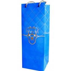 Подарочный пакет (бутылка) (синий) RD-RKD4-02