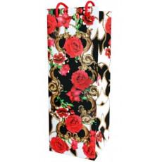 Подарочный пакет (бутылка) (цветы) RD-RKD4-03