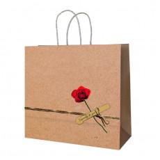 Подарочный крафт пакет  RD-RK-B4-22