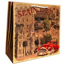 Подарочный пакет крафт (квадрат) Spain LD-W1K-10