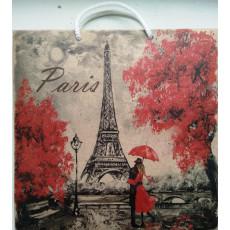 Подарочный пакет крафт (квадрат) Parise LD-W1K-07