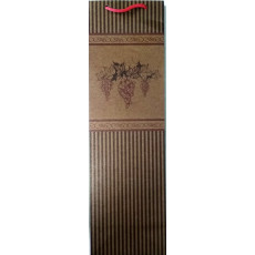 Подарочный пакет (бутылка Крафт) (виноград) LD-WBK-02