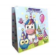 Подарочный пакет детский (квадрат) LD-W1D-104