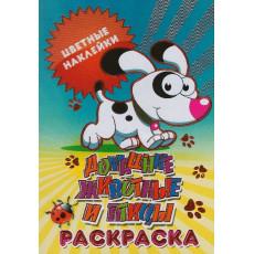 """Раскраска с цветными наклейками """"Домашние животные"""" KD-23-047"""