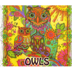 Раскраска антистрес «OWLS» MX-019