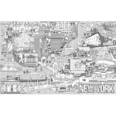 Раскраска антистресс Гигант А1 «NEW YORK» MD-A1-KOR-08