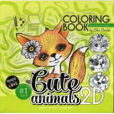 Раскраска антистресс 2D «Cute animals» MD-0513-20412