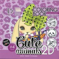 Раскраска антистресс 2D «Cute animals» MD-0513-20415
