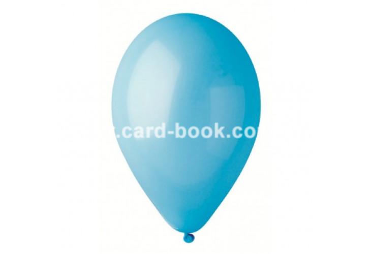 """Воздушные шары 10 шт. Голубые пастель 8"""" (21см) GE-009-8"""