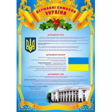 "Плакат ""Державні символи України"" SP-P-64"